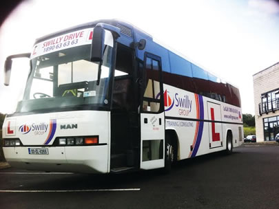 image of swilly group training coach bus