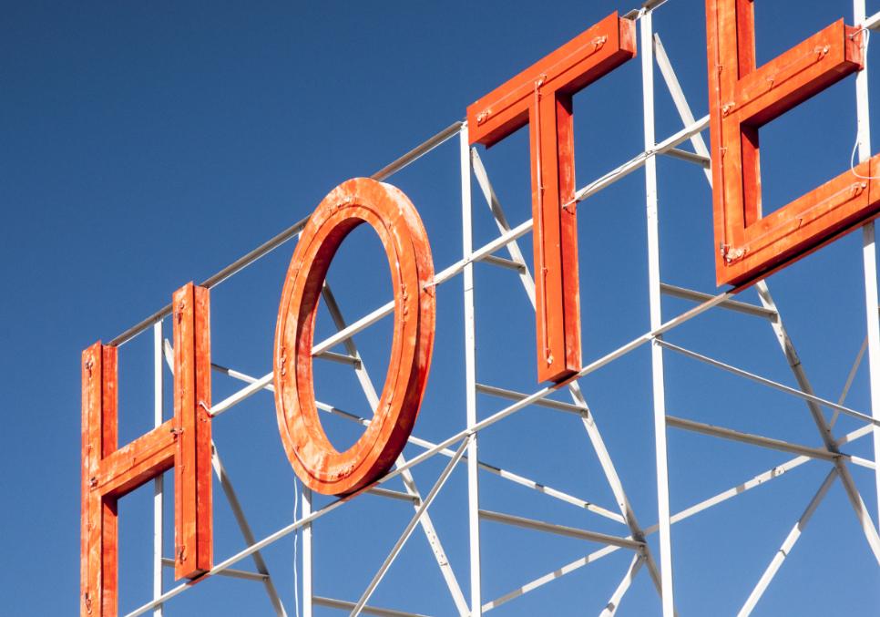 image of hotel signage