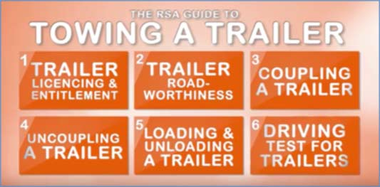 image for the rsa towing a trailer information leaflet