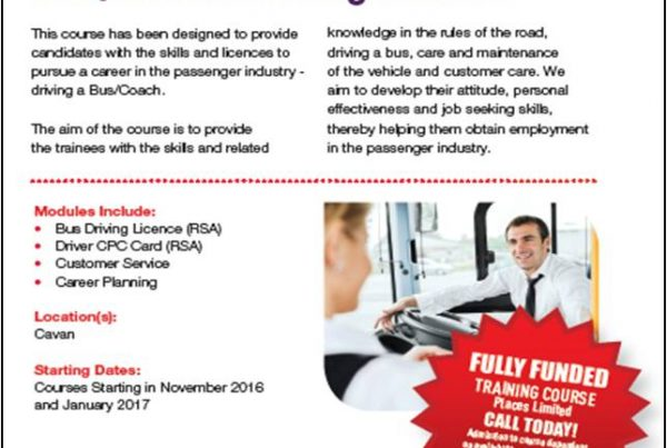 advertisement for bus and coach driving course