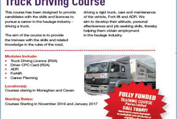 advertisement for truck driving course